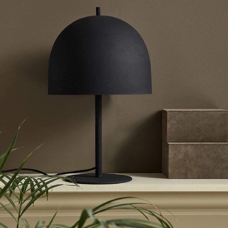 Hixton Matt Black Iron Lamp