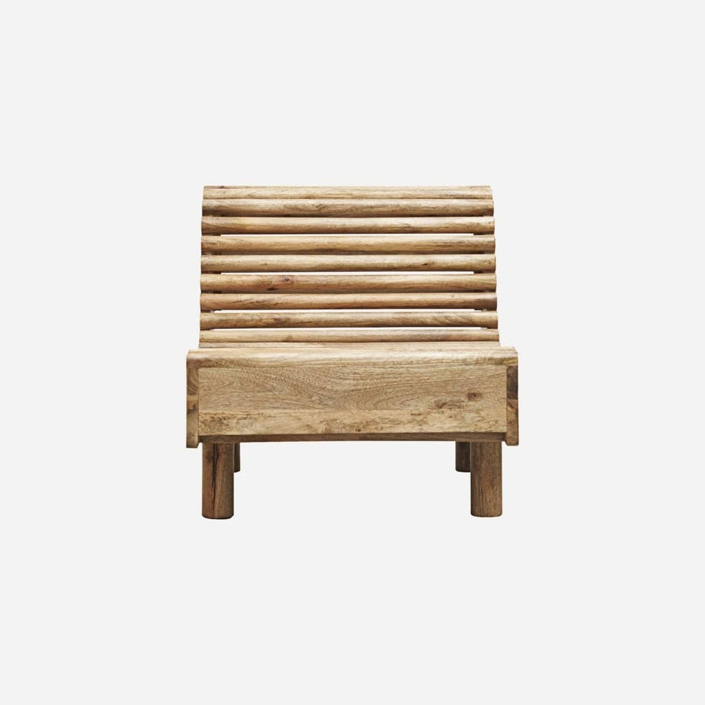 Hixton Outdoor Wooden Lounge Chair