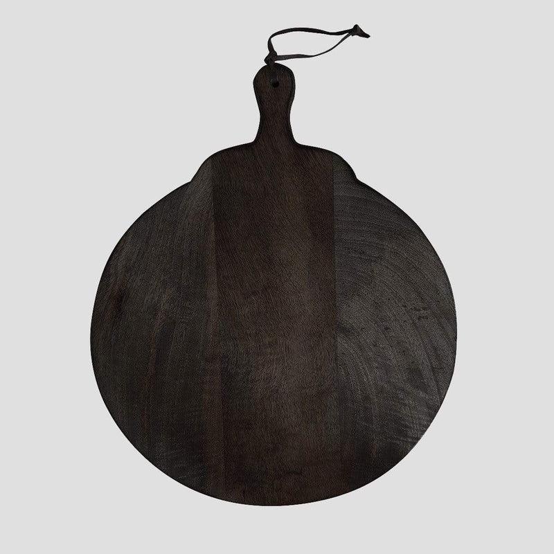 Hixton Scandi Noir Round Serving Board