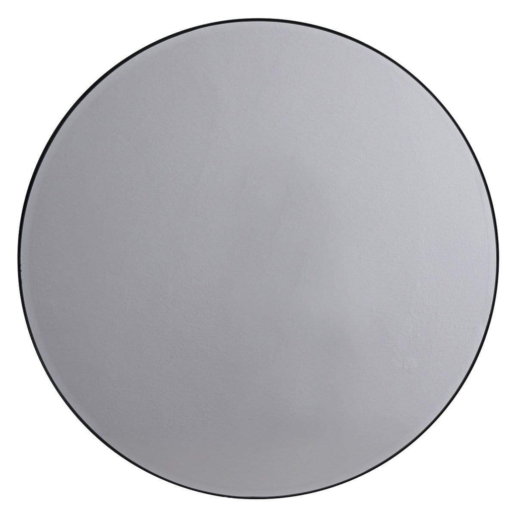 Hixton Smokey Grey Round Glass Mirror