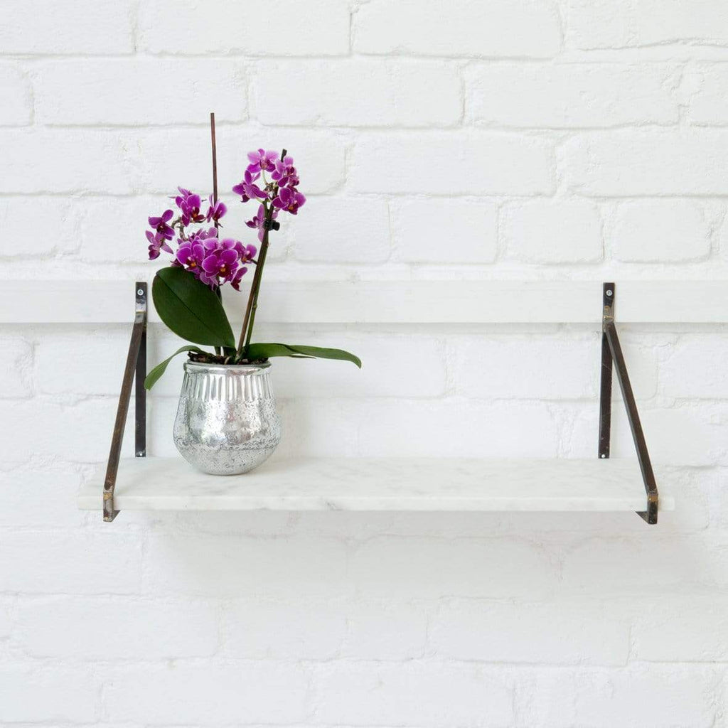 Hixton Timeless White Marble Shelf