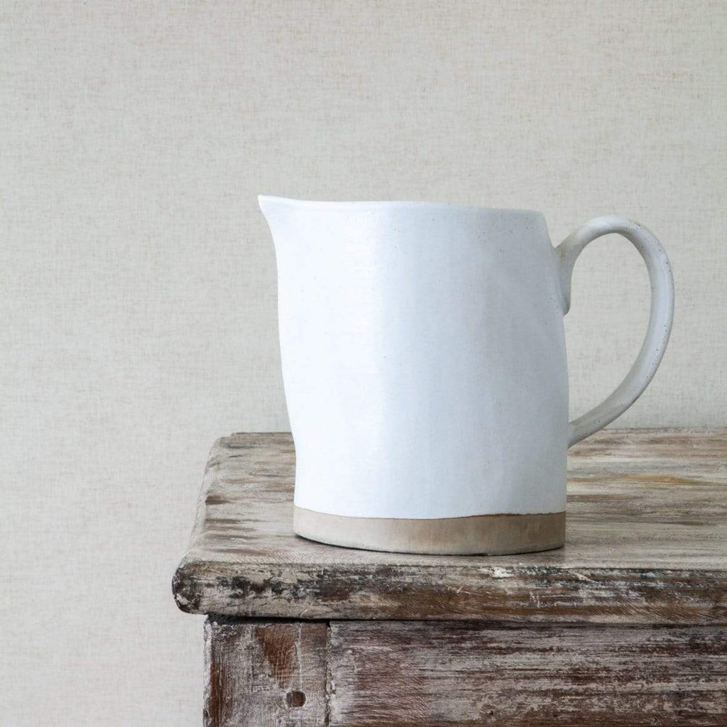 Hixton White Ceramic Jug