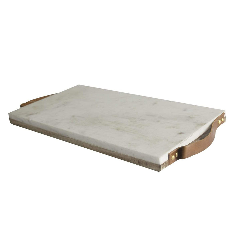 Hixton White Marble Cutting Board With Handle
