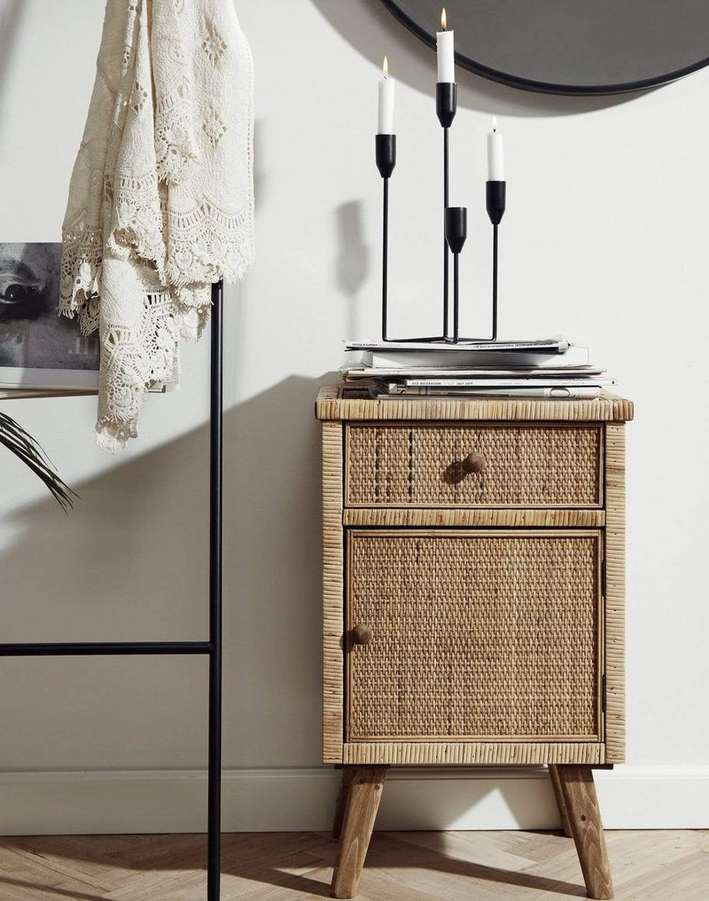 Hixton Wicker Bedside Table