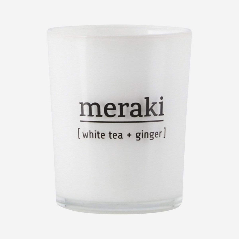 meraki Scented Candle - White Tea and Ginger