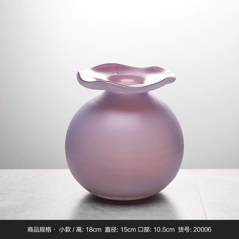 Purple Colored Glass Vases Wholesale Mediterranean Style Home