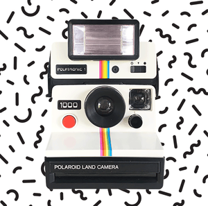 Polaroid Land Camera 1000 Red + Polatronic 1 Color