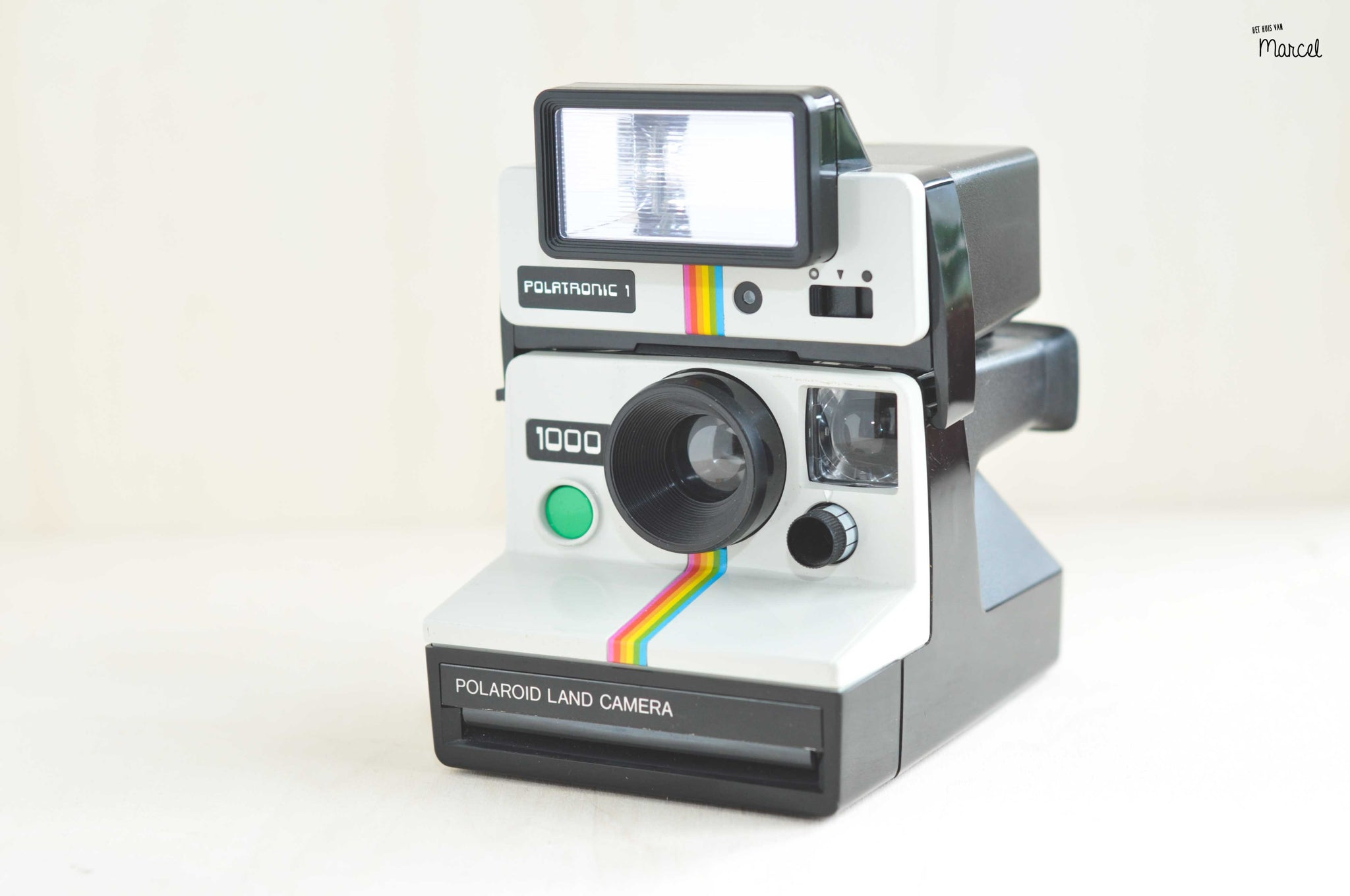Polaroid Land Camera 1000 Green + Polatronic 1