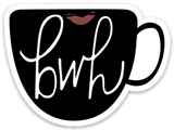 babes who hustle // coffee mug sticker with logo