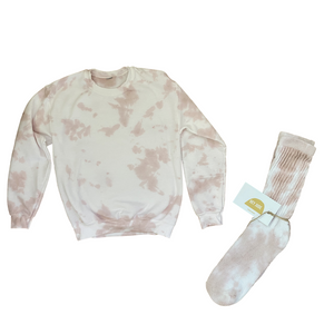 Dusty Rose Sweatshirt + Sock Set (by The Hey Jude Shop)
