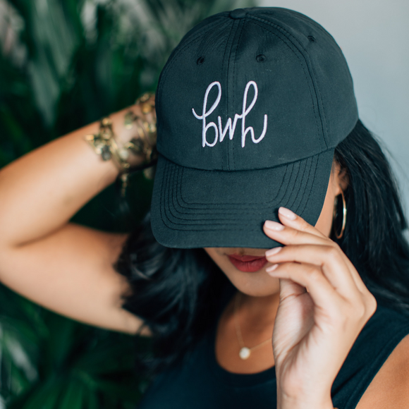 babes who hustle // black baseball cap + logo