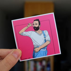 Jonathan Van Ness Sticker (by Narváez Art)