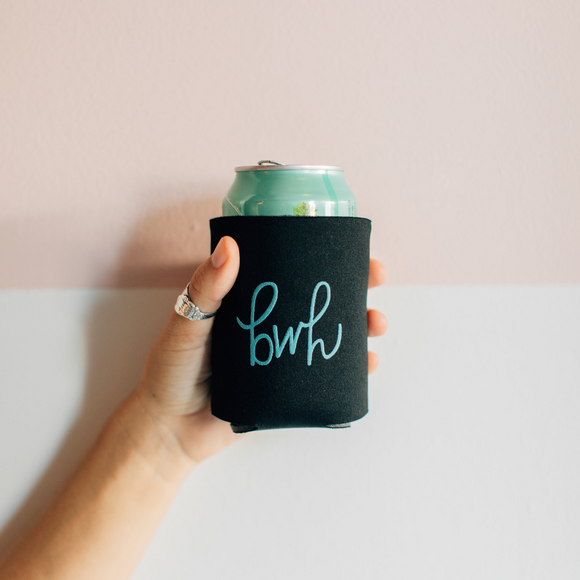 babes who hustle // logo koozie // teal
