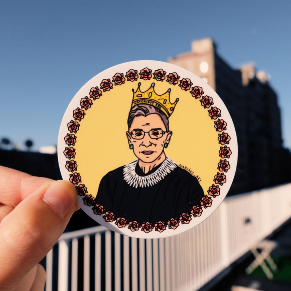 Ruth Bader Ginsburg Sticker (by Narváez Art)