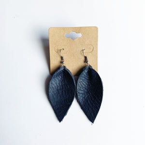 Leather Leaf Earrings (by Anney Life Designs)
