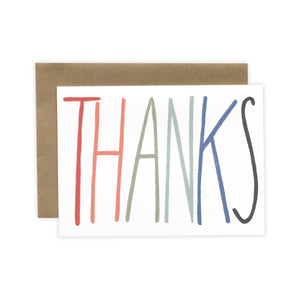 'THANKS' Greeting Card (by Laura Supnik)