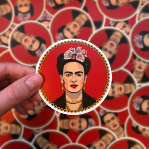 Frida Kahlo Sticker (by Narváez Art)