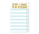 near modern disaster // babes who hustle - all the things bundle - stuff i forgot to do yesterday notepad