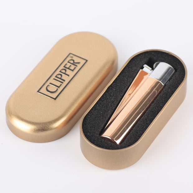 metal large rose gold silber clipper  2