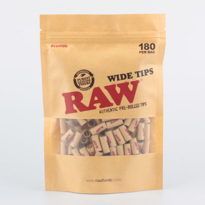 raw pre rolled filter tips 180 stück im beutel