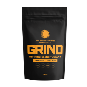 GRIND - Fresh 100% Organic Coffee - 16oz Bag - MorelliFit - Cleanest Sports Supplements & Nutrition on Earth