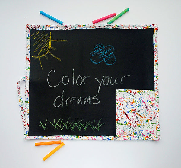 Crayons Travel Chalkboard