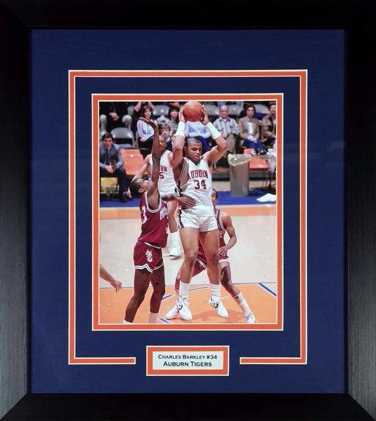 Charles Barkley Auburn Tigers 8x10 Framed Photograph – Signature ... 1b8f3f363