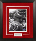 Lou Holtz Autographed Arkansas Razorbacks 8x10 Framed Photograph