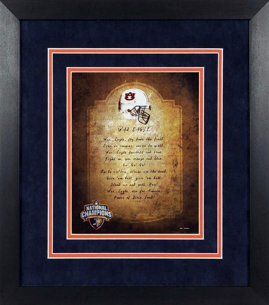 Auburn Tigers War Eagle 8x10 Framed Photograph