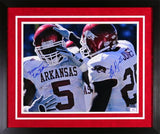 Darren McFadden & Felix Jones Autographed Arkansas Razorbacks 16x20 Framed Photograph