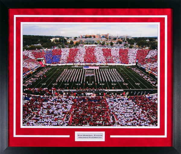 Arkansas Razorbacks War Memorial Stadium 16x20 Framed Photograph