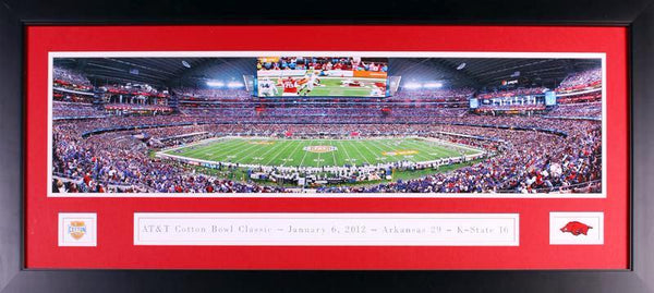 Arkansas Razorbacks 2012 Cotton Bowl Framed Panoramic Photograph