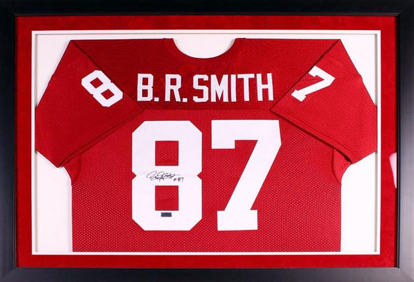 Billy Ray Smith Autographed Arkansas Razorbacks #87 Framed Jersey