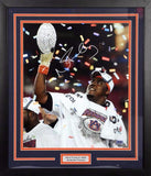 Nick Fairley Autographed Auburn Tigers 16x20 Framed Photograph (BCS Trophy)