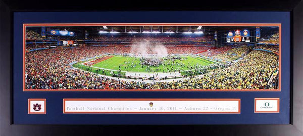 Auburn Tigers 2011 BCS National Championship Framed Panoramic Photograph