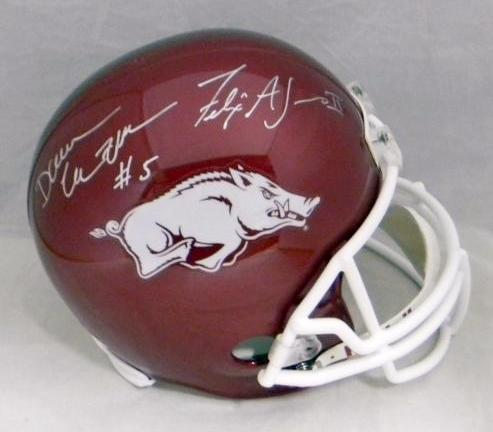 Darren McFadden & Felix Jones Autographed Arkansas Razorbacks Full Size Replica Helmet