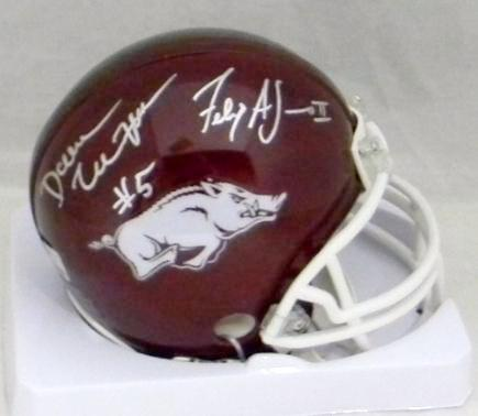 Darren McFadden & Felix Jones Autographed Arkansas Razorbacks Mini Helmet