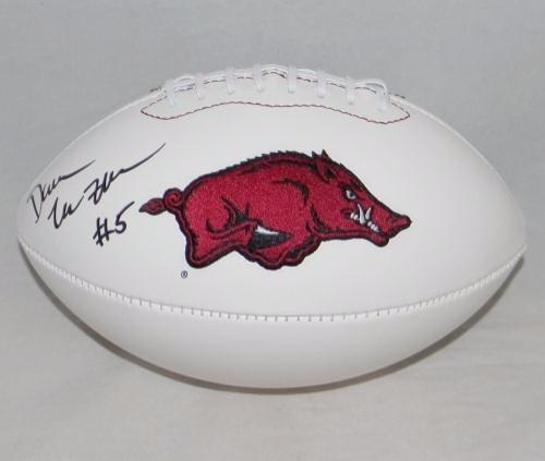 Darren McFadden Autographed Arkansas Razorbacks White Logo Football