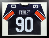 Nick Fairley Autographed Auburn Tigers #90 Framed Jersey