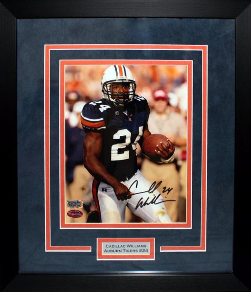 "Carnell ""Cadillac"" Williams Autographed Auburn Tigers 8x10 Framed Photograph"