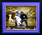 Hank Aaron Autographed Atlanta Braves 16x20 Framed Photograph (Collage)