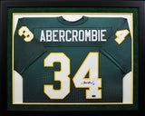 Walter Abercrombie Autographed Baylor Bears #34 Framed Jersey