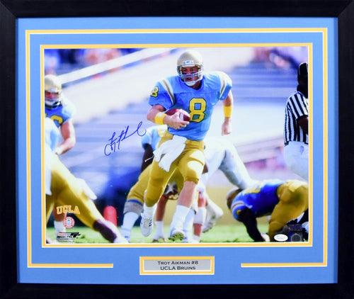 Troy Aikman Autographed UCLA Bruins 16x20 Framed Photograph (Running)