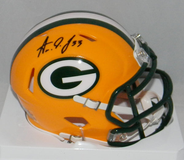 Aaron Jones Autographed Green Bay Packers Speed Mini Helmet