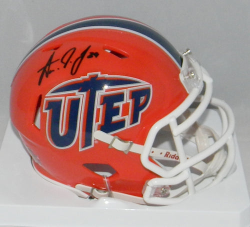 Aaron Jones Autographed UTEP Miners Speed Mini Helmet