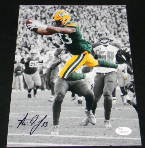 Aaron Jones Autographed Green Bay Packers 8x10 Photograph #1