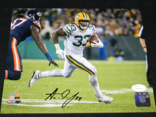 Aaron Jones Autographed Green Bay Packers 8x10 Photograph #5
