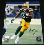 Aaron Jones Autographed Green Bay Packers 8x10 Photograph #4