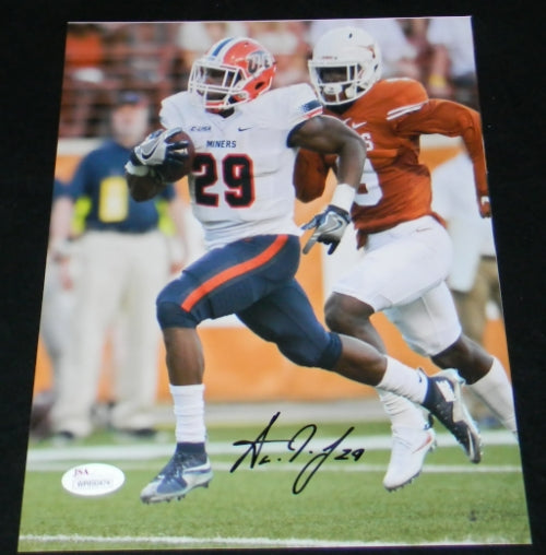 Aaron Jones Autographed Utep Miners 8x10 Photograph Signature Sports Marketing