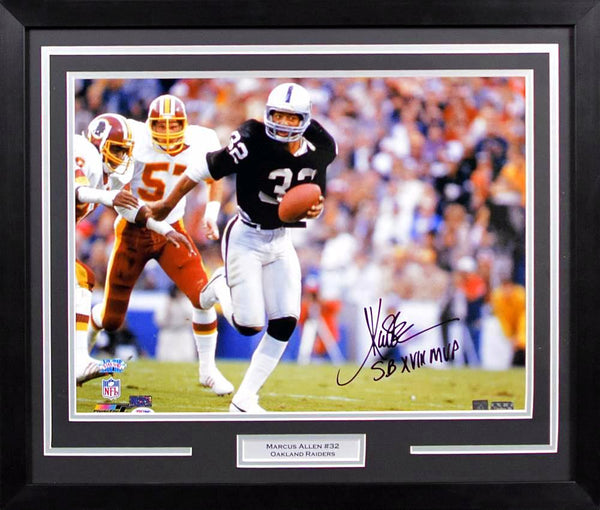 Marcus Allen Autographed Oakland Raiders 16x20 Framed Photograph